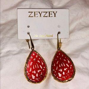 NWT ZeyZey 18K Gold Plated Earrings